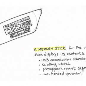 Memory stick for video clips