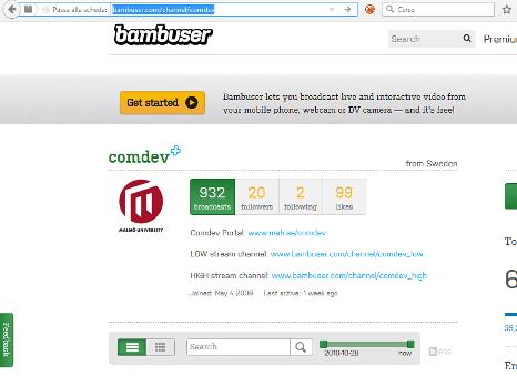 Comdev bambuser page