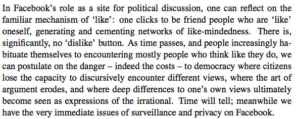 """Excerpt from """"The Political Web"""" (Dahlgren, 2013)"""