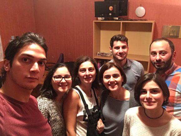Analyzing election results: Levan Eliashvili, Mariko Gamkhara'shvili, Meme Renard, Nino Macharashvili, Dachi Shanidze, Meri Pepanashvili and Pako Gogatishvili