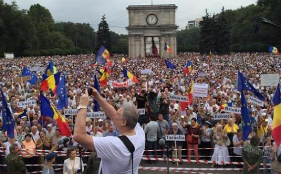anti-government protest in Moldova 2009