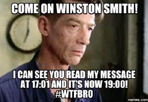Winston Smith, 1984, meme Facebook activism