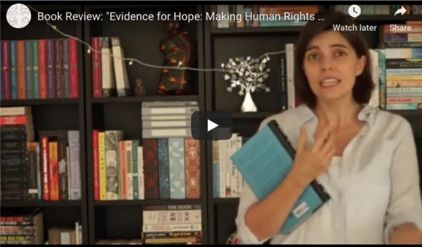 "(video) Review of ""Evidence for Hope"" by Kathryn Sikkink"