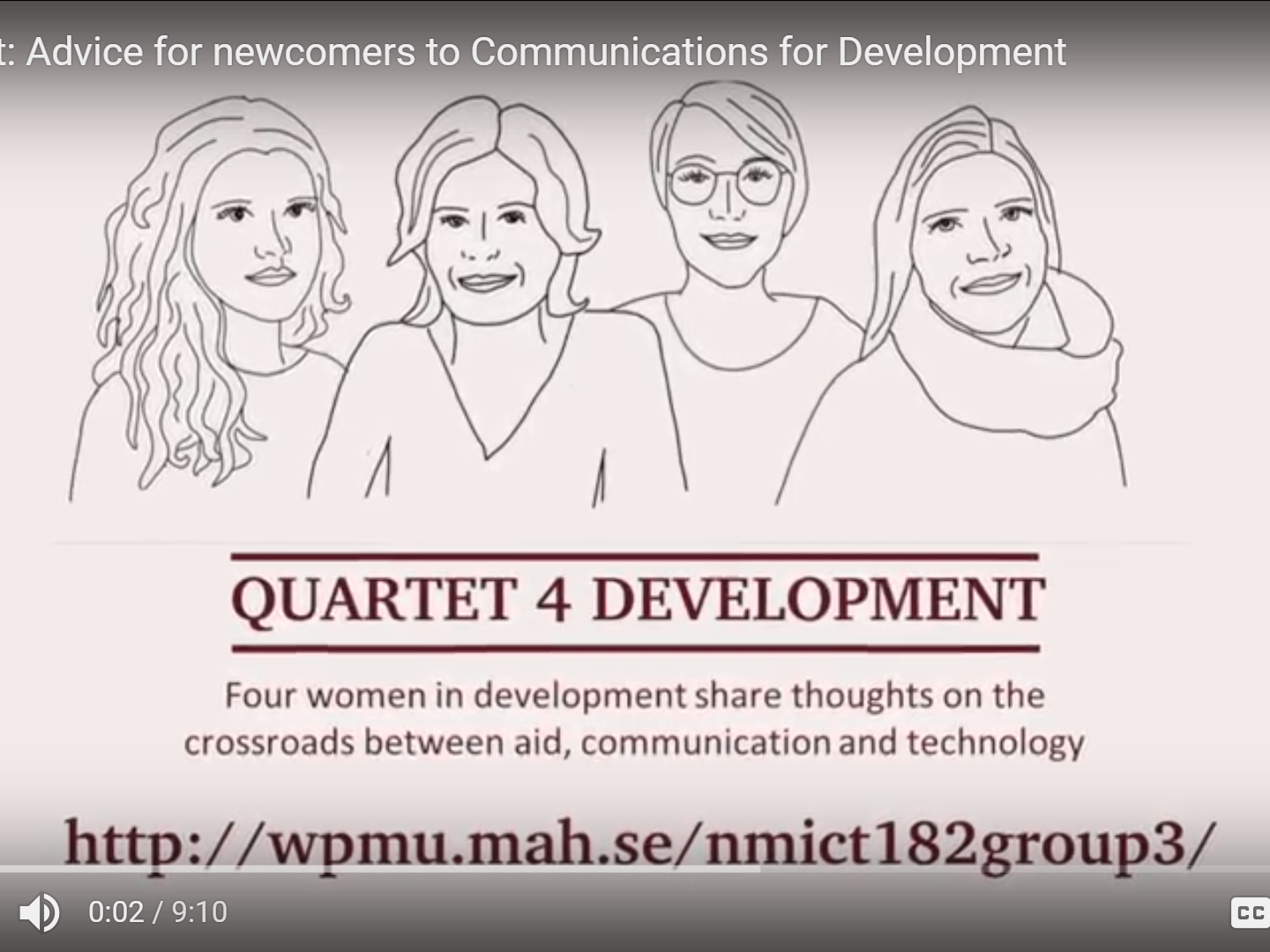 (video) Advice for Newcomers to Communication for Development